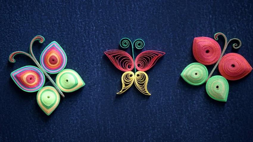 Квиллинг бабочка, квиллинг схемы, мастер-класс по созданию бабочки ...   478x850